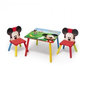 Dřevěný dětský set stůl a židle Mickey Mouse