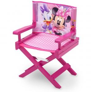 Židle pro děti v růžové barvě s motivem Minnie Mouse