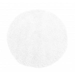 Bílý koberec kulatý Shaggy