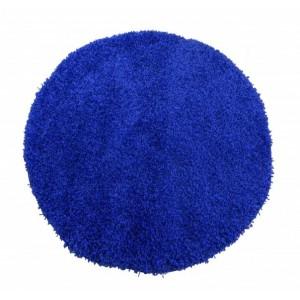 Kulatý koberec tmavě modré barvy SHAGGY