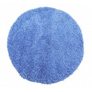 Kusové koberce shaggy kulaté v barvě modré