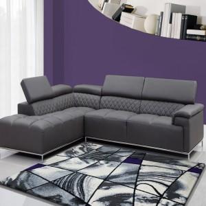 Vzorovaný kusový koberec do obýváku šedě fialový