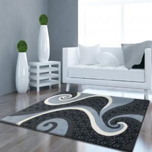 Elegantní šedý koberec do pokoje