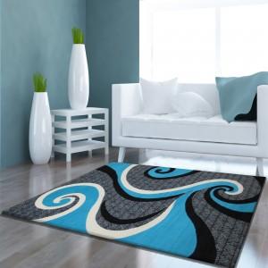 Kusový koberec do obývacího pokoje se vzorem