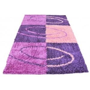 Shaggy koberec fialový obdélník