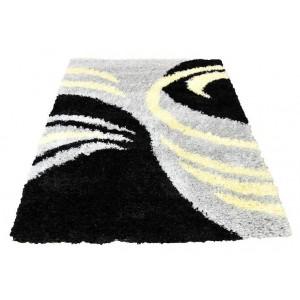 Kusové koberce shaggy šedé barvy s motivem drápky