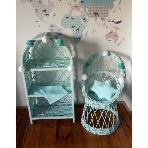 Dětské proutěná židle v různých barvách