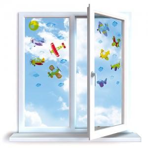Nálepky na okna do dětského pokoje