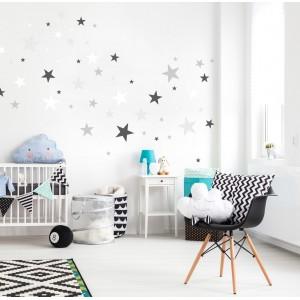 Dětské nálepky na stěnu v podobě hvězdiček