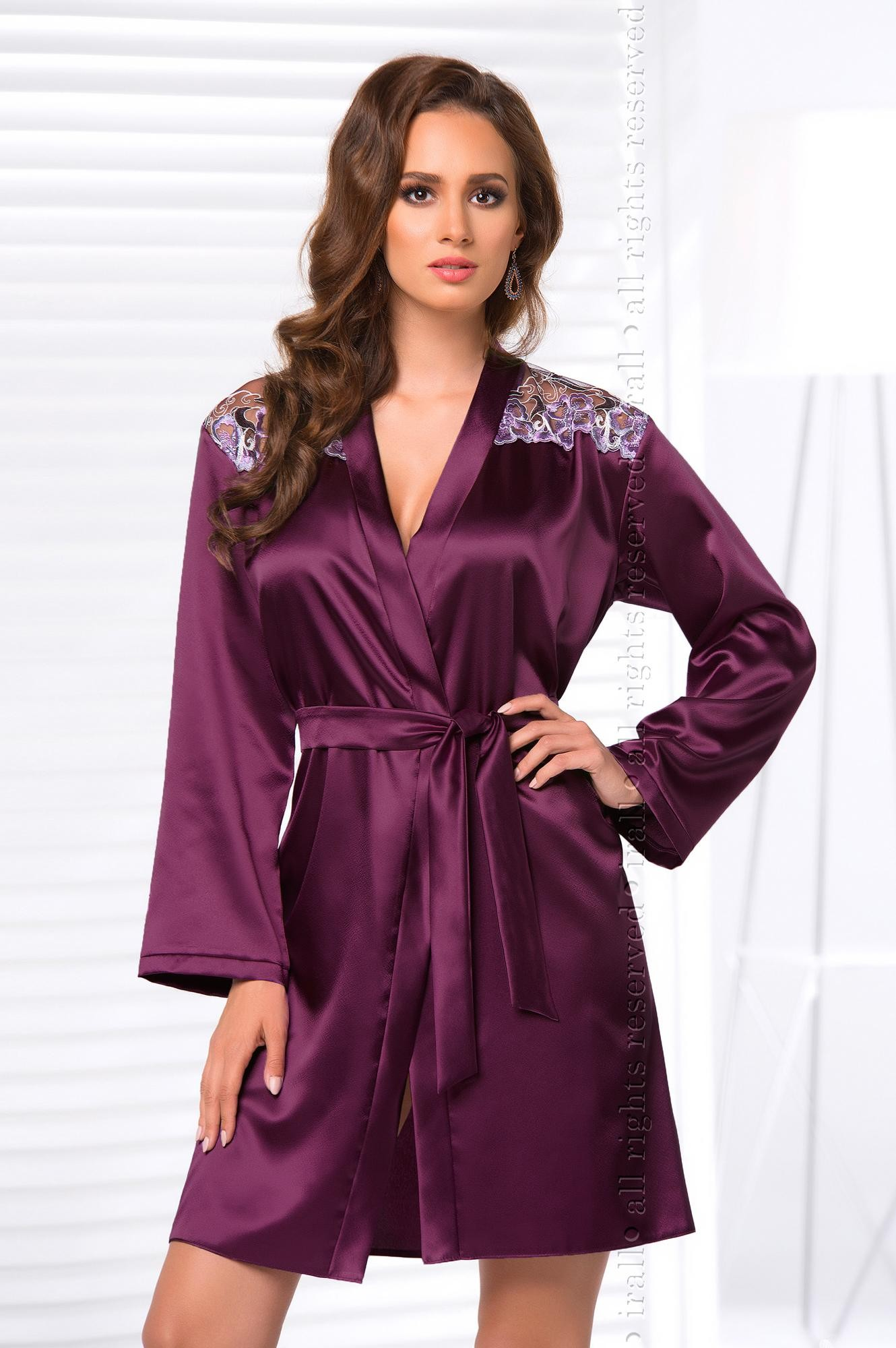 Kvalitní dámský župan ve smyslné fialové barvě