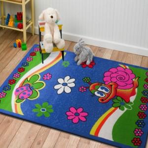 Kvalitní koberec do dětského pokoje s motivem šneka