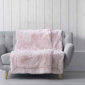 Jemná deka chlupatá růžová MARILOU