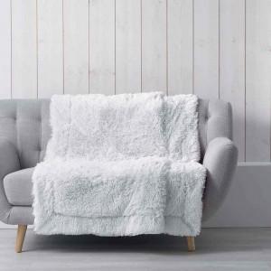 Hřejivá chlupatá deka bílé barvy MARILOU