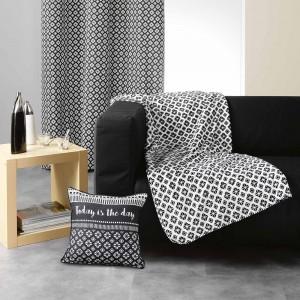 Černo bílá deka vzorovaná GRAPHIC HOME