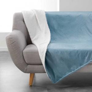 Kožešinová deka jednobarevná modrá AUSTRAL
