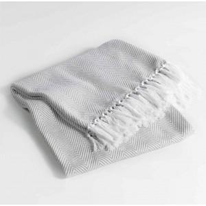 Luxusní bavlněná deka béžové barvy ENOA