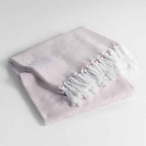 Bavlněná deka růžové barvy ENOA