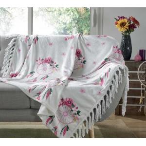 Moderní deka s květinovými lapači snů HOMEA