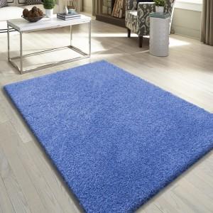 Kvalitní modrý koberec do obýváku