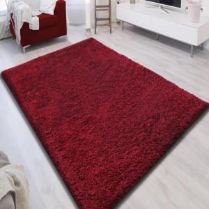 Kvalitní koberec v červené barvě SHAGGY
