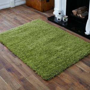 Zelený koberec do obýváku s vláknem SHAGGY