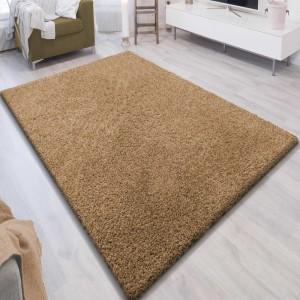 Jednobarevný koberec SHAGGY karamel