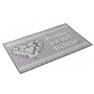 Romantický měkký kobereček se srdcem HOME LOVE