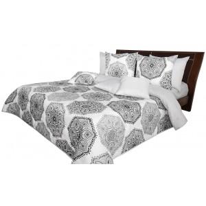 Kvalitní oboustranný přehoz na postel s ornamentem