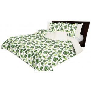 Oboustranný přehoz přes postel s listy