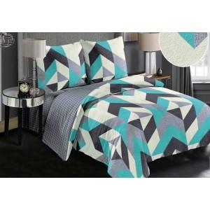 Hřejivé povlečení na postel v geometrickém designu oboustranné