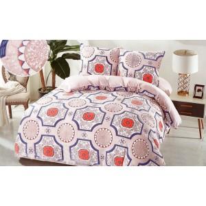 Vzorované povlečení na postel béžové barvy
