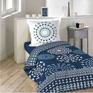 Kvalitní tmavě modré oboustranné povlečení na postel DARLA