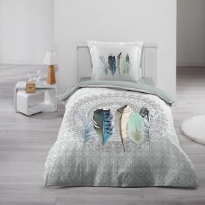 Povlečení na postel bavlněné v moderním designu INAJI