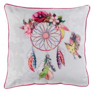 Dekorační polštář s květinovým lapačem snů BOHEMIA