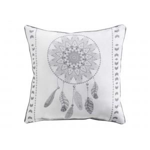 Moderní bílý dekorační polštář lapač snů REVELINE WHITE