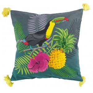 Dekorační polštář s exotickým potiskem DOMINGO