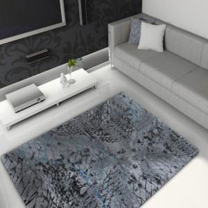 Šedý koberec do obýváku