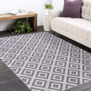 Kusový koberec v béžové barvě s ornamentem