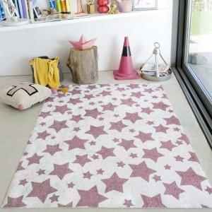 Béžový koberec se vzorem hvězdiček