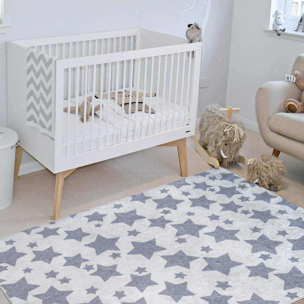 Kusový koberec s šedými hvězdičkami