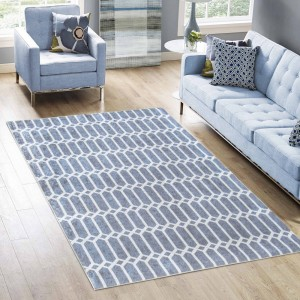 Moderní koberec v šedé barvě do obývacího pokoje