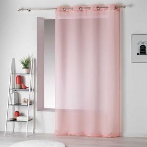 Růžové záclony do ložnice jednobarevné ARTESIO