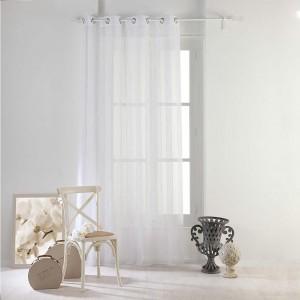 Bílá záclona na balkon NUAGE