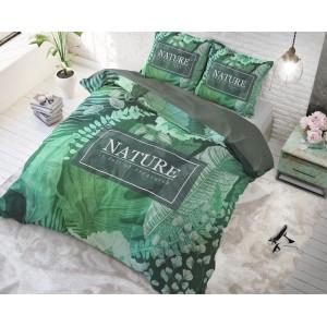 Zelené povlečení na postel z bavlny ORGANIC NATURE