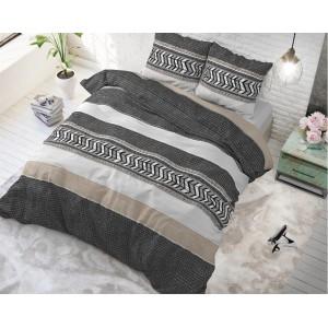 Bavlněné pruhované povlečení na postel NORTHERN STRIPE
