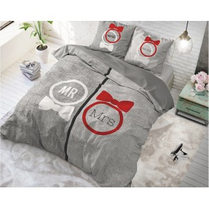 Stylové povlaky na postel šedé barvy pro páry TRENDY