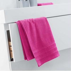 Bavlněný ručník pestré růžové barvy