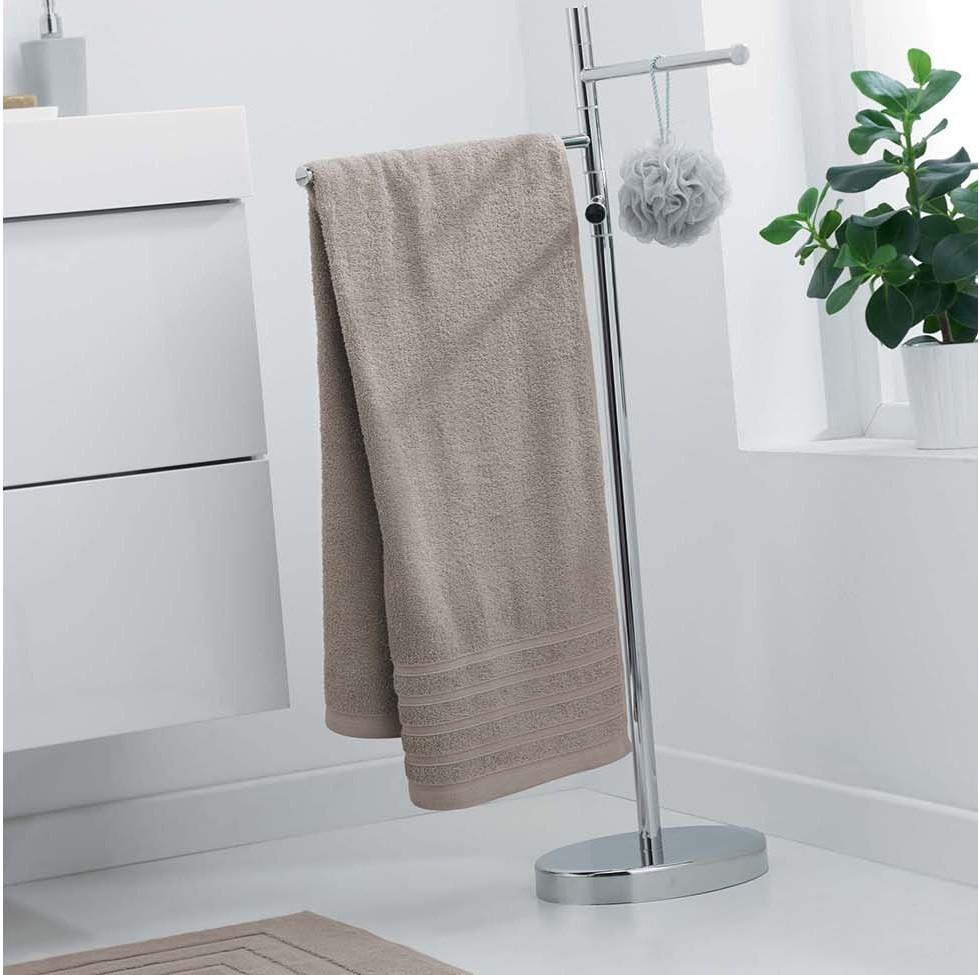 Béžová osuška z bavlny 70 x 130 cm