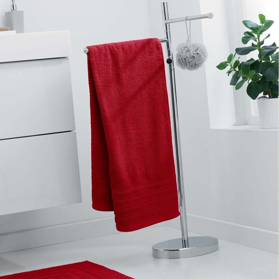 Osuška červené barvy rychleschnoucí 70 x 130 cm