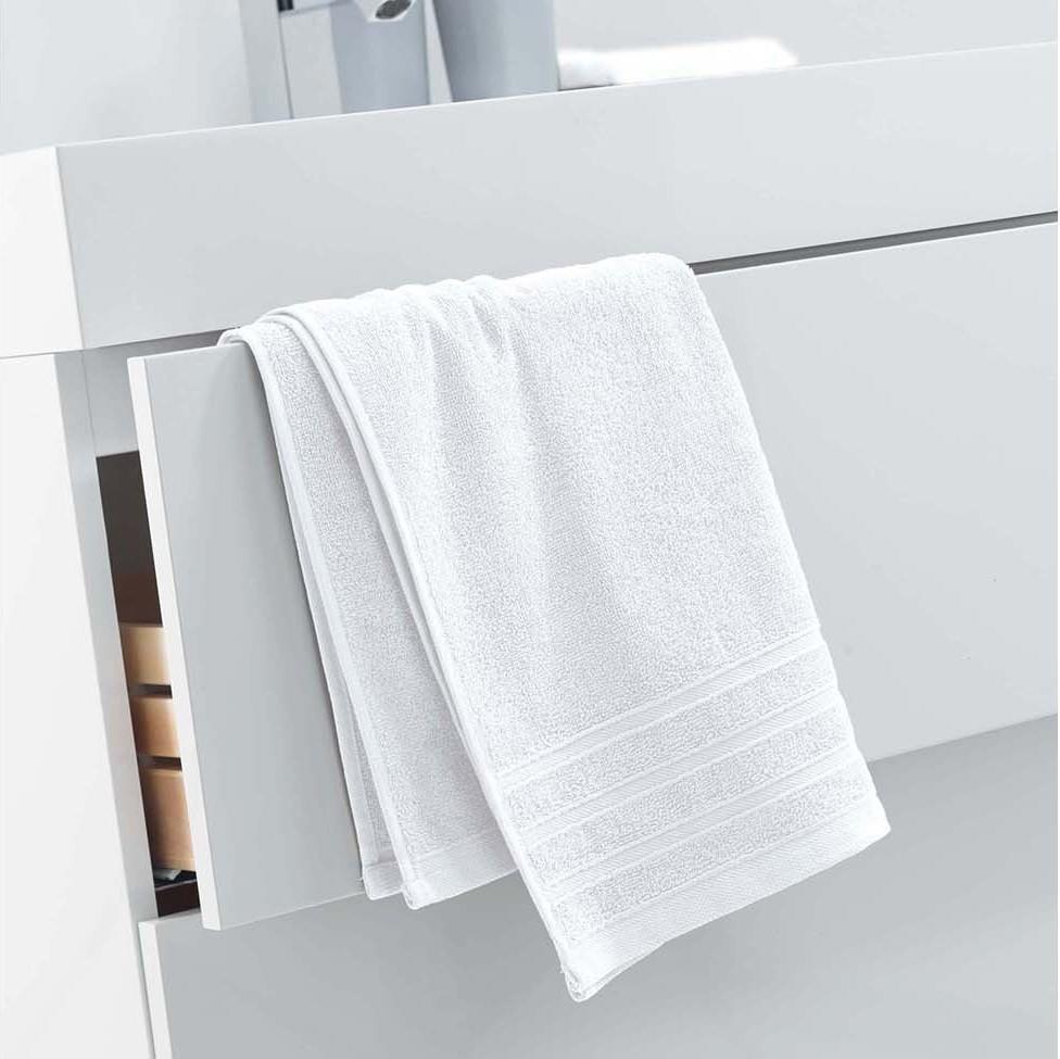Bílá osuška ze 100% bavlny 50 x 90 cm